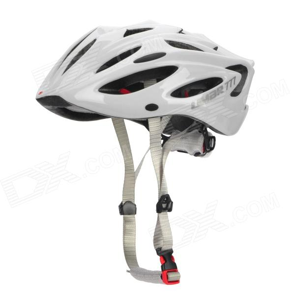 LIMAR 777 Cycling Road Bike PC + EPS Helmet w/ Insect Net + Dial Anti-Clockwise - White
