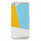 Newtons Contrast Color Style Protective PC Back Cover Case for Iphone 5 - Yellow + Blue+ White