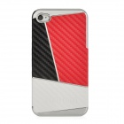 Newtons Contrast Color Style Protective PC Back Cover Case for Iphone 5 - Black + Red + White