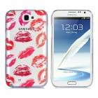 Newtons 3D Sexy Lips Pattern Protective PC Rückseite Fall für Samsung i7100 - Red + Transparent