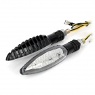 Waterproof 1.2W 100lm 30-LED Yellow Light Motorcycle Steering Signal Lamp (2 PCS / 12V)