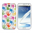 Newtons 3D Handprint Pattern Protective PC Back Cover Case for Samsung i7100 - Multicolor