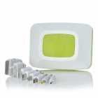 LX-FT 6800mAh Smart Portable External Power Charger w/ LED / SOS Light + USB Charger - Green + White