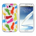 Newtons 3D Footprint Pattern Protective PC Back Cover Case for Samsung i7100 - Multicolor