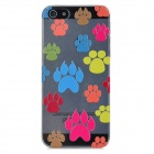 Newtons 3D Paw Print Pattern Protective PC Back Cover Case for Iphone 5 - Multicolor