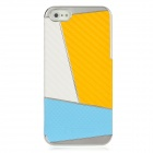 Newtons Contrast Color Style Protective PC Back Cover Case for Iphone 5 - White + Yellow + Blue