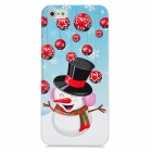 Newtons Cute 3D Snowman Pattern Protective PC Back Cover Case for Iphone 5 - Multicolor