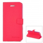 Newtons Flip-Open Folding Stand PU Leather Case for Iphone 5 - Rose