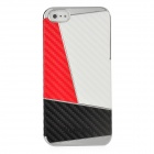 Newtons Contrast Color Style Protective PC Back Cover Case for Iphone 5 - Red + White + Black
