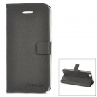 Newtons Flip-Open Folding Stand PU Leather Case for Iphone 5 - Black