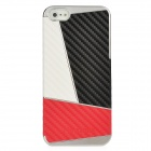 Newtons Contrast Color Style Protective PC Back Cover Case for Iphone 5 - White + Black + Red