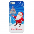 Newtons 3D Santa Claus with Christmas Tree Pattern Protective PC Back Case for Iphone 5 - Multicolor