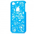 Stilvolle Newton Hohle Rose Pattern Protective PC zurück Fall für Iphone 4 / 4S - Blau
