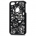 Stylish Newtons Hollow Rose Pattern Protective PC Back Cover Case for Iphone 4 / 4S - Black