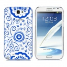 Newtons 3D Blue and White Porcelain Sunflower Design Protective PC Back Case for Samsung i7100