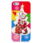 Newtons 3D Santa Claus with Clock Pattern Protective PC Back Cover Case for Iphone 5 - Multicolor