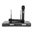 "U880 Dual 2.5"" LCD Wireless Microphone System w/ Dual Wireless Microphones - Black"