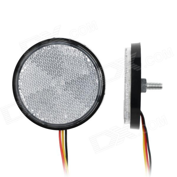 Waterproof Round Style 1.5W 66lm LED Colorful Light Motorcycle Lamp (2 PCS / 12V)