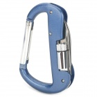 Outdoors LED Locking Carabiner w/ 1-LED Flashlight / Multi-Tool - Cold Blue (3 x LR621)