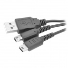 2-in-1 USB Charging Cable for NDSI / NDSL - Black