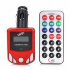 "1.1"" LCD Car MP3 Player FM Transmitter with Remote Controller - Red + Silver + Black (12~24V)"