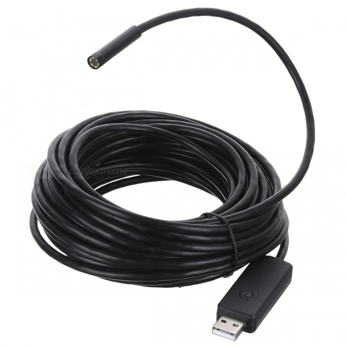IP67 Waterproof USB 2.0 CMOS 6-LED Snake Camera Endoscope (7m)