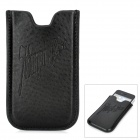 Protective PU Leather Case Pouch for Iphone 3g / 3GS / 4 / 4S / 5 - Black