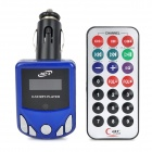 "1.1"" LCD Car MP3 Player FM Transmitter with Remote Controller - Blue + Silver + Black (12~24V)"