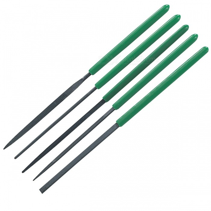 все цены на Pro'sKit 8PK-605A Precise Steel Needle Files Tool Set - Green + Deep Grey (170 x 3mm / 5 PCS) онлайн
