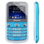 "Q10 GSM QWERTY Bar Phone w/ 2.2"" LCD Screen, Quad-Band, Triple-SIM, TV and FM - Blue"