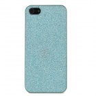 Shinning Protective Electroplated Plastic Back Case w/ Screen Guard for Iphone5 - Turquoise