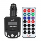"1.1"" LCD Car MP3 Player FM Transmitter with Remote Controller - Black (12~24V)"