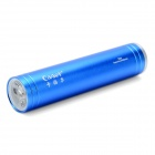 Cager T03/C Portable USB Rechargeable Mobile Power Battery w/ 1-LED Flashlight - Blue