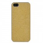 Protective Paillette PU Leather Cover PC Case w/ Screen Protector for Iphone 5 - Golden