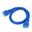 USB 3.0 20-Pin Male to Male Extension Data Cable - Blue (0.5m)