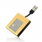 FB FB-660 USB 2.0 CF / SD / MS / M2 / XD / TF / Mini SD Card Reader - Golden