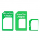 Nano SIM Card Adapter Set for Iphone 4 / 4S / 5 - Green
