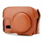 G15 Protective Detachable PU Leather Camera Case w/ Shoulder Strap for Canon PowerShot G15 - Brown