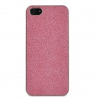 Protective Paillette PU Leather Cover PC Case w/ Screen Protector for Iphone 5 - Deep Pink