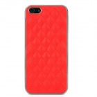 Protective Lambskin + PC Case w/ Screen Protector for Iphone 5 - Red