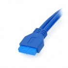USB 3.0 20-Pin Male to Female Extension Data Cable - Blue (0.5m)