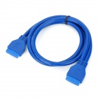 USB 3.0 20-Pin Female to Female Extension Data Cable - Blue (0.5m)