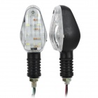 1.68W 84lm 12-LED Warm White Light Motorcycle Signal Lamp (2 PCS / 12V)