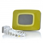LX-FT 6800mAh Smart Portable External Power Charger w/ LED / SOS Light + USB Charger - Yellowgreen