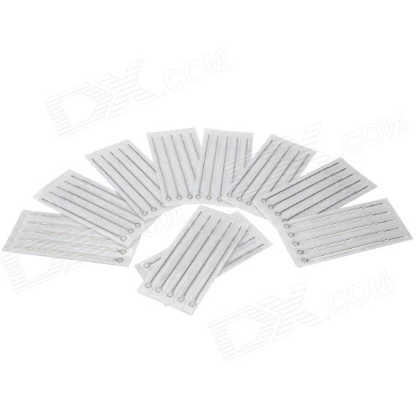 9M2 Round Liner Tattoo Needles - Silver (50 PCS)