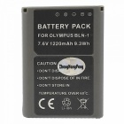 BLN-1 Replacement 7.6V 1220mAh Battery Pack for Olympus OM-D E-M5 / EM5 / EM-5 OMD - Grey