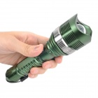 UltraFire 640lm 5-Mode White Zooming Flashlight - Green (1 x 18650 / 3 x AAA)