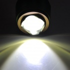 UltraFire 640lm 3-Mode White Zooming Flashlight - Coffee + Green (1 x 18650 / 3 x AAA)