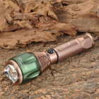 UltraFire Cree XM-L T6 640lm 3-Mode White Zooming Flashlight - Coffee + Green (1 x 18650 / 3 x AAA)