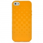 Newtons 3D Square Grid Pattern Silicone Back Case for Iphone 5 - Orange